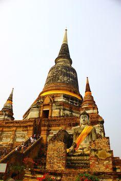 Ayutthaya, Thailand Buddha Temple, Buddha Buddhism, Thailand Honeymoon, Thailand Travel, Ayutthaya Thailand, Thai Travel, Wat Pho, Beautiful Landscape Photography, World Pictures