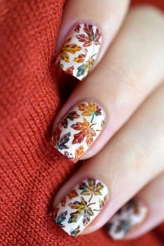 Nailstorming - Autumn [VIDEO TUTORIAL] - fall nail art - autumn leaves nails - stamping - what's up nails B021 - Bundle Monster Mythos polishes