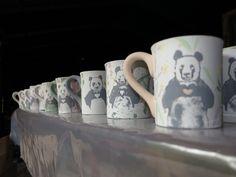 A few of the thirty odd pandas painted at Cork & chroma last night.