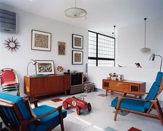 Mid-Century Danish Modern Living Room full of great Teak Furniture!
