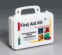 """25 Person- 106 piece bulk kit- plastic case w/ gasket- 1 ea. - This 106-piece first aid kit is ideal for contractors, fleet vehicles, work sites or small companies with up to 25 employees. It exceeds federal OSHA requirements 1910.151b. (State requirements may vary. ) Sturdy and convenient plastic case contains the first aid essentials to prepare you for work-related accidents.Kit Includes: (50 ) 3/4""""x3"""" Adhesive plastic bandages (2 ) 1-1/2""""x3"""" Knuckle fabric bandages (3 ) 1-3/4""""x3"""" Large…"""