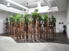 Human-Meditation-Nature installation by Vo Trong Nghia Architects at Venice Architecture Biennale, Venice - Italy