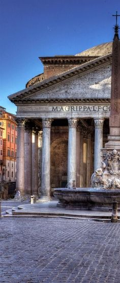 Pantheon in Rome. Made from stone, commonly used in roman interiors