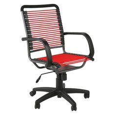 Euro Style Bungie High Back Office Chair Red/Graphite Black - EUS1233-3
