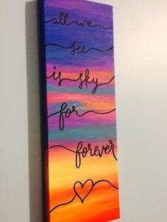 Dear Evan Hansen art For Forever lyrics Ben platt broadway musical acrylic canvas embossing