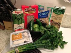 #Ingredients for homemade vegetarian #pho