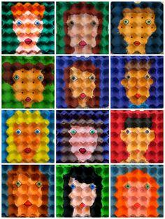 #DIY #Egg #carton #faces www.kidsdinge.com https://www.facebook.com/pages/kidsdingecom-Origineel-speelgoed-hebbedingen-voor-hippe-kids/160122710686387?sk=wall http://instagram.com/kidsdinge #toys #speelgoed #kids #kidsdinge
