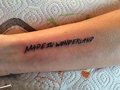 Made in Wonderland #tattoo