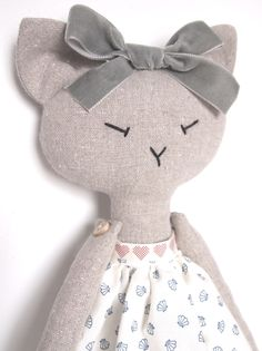 Best 8 PDF sewing pattern for Blank Cat Doll for crafting 37 Doll Crafts, Sewing Crafts, Sewing Projects, Doll Sewing Patterns, Sewing Dolls, Fabric Toys, Fabric Crafts, Fabric Animals, Cat Doll