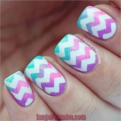 Chevron nail art designs have evolved into big nail trends these days. More and more ladies would want a chevron nail art, which really rock and can be worn Chevron Nail Designs, Chevron Nail Art, Cute Nail Designs, Toe Designs, Nail Designs For Kids, Nail Stripes, Awesome Designs, Cute Nail Art, Easy Nail Art