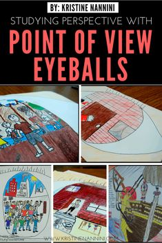 Point of View Eyeballs! - Young Teacher LoveYou can find Point of view and more on our website.Point of View Eyeballs! 4th Grade Ela, 6th Grade Reading, Sixth Grade, Third Grade, 6th Grade Art, Reading Lessons, Teaching Reading, Teaching Art, Reading Projects