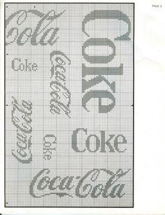 coca cola cross stitch..on stick