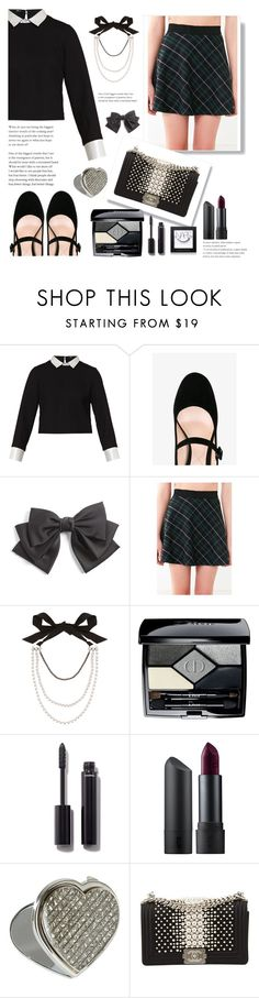 """""""Preppy Chic. ♡"""" by love-jassy ❤ liked on Polyvore featuring Maje, Nicholas Kirkwood, Cara, BDG, Lanvin, Christian Dior, Chanel, Bite, NARS Cosmetics and cute"""