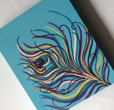 Peacock Feather Art by 2Messy on Etsy, $24.00
