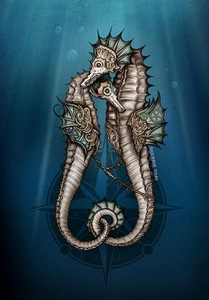 Steampunk Seahorses | by shaire productions