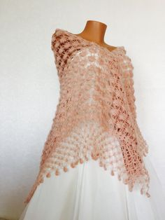 A personal favourite from my Etsy shop https://www.etsy.com/listing/228007730/bridal-light-pink-shawlbride-accessories