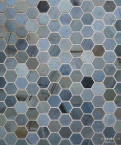 this is my favorite shower floor so far, I like that it has the olive green variance ,olive is also in the cement floor tile. Moonstone marble from Amy Meier Design. Hexagon Tile Backsplash, Hexagon Tiles, Hex Tile, Backsplash Ideas, Tiling, Tile Ideas, Grey Bathroom Tiles, Bathroom Flooring, Kitchen Tiles