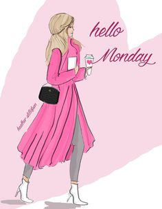 New week, fresh starts and new beginnings. Hello Monday, Hello Weekend, Bon Weekend, It's Monday, Wednesday, Monday Morning Quotes, Monday Quotes, Morning Sayings, Rose Hill Designs