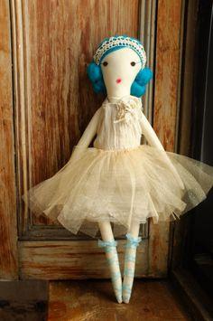 Handmade Rag Dolls by Gaiia Kim OneofaKind Cloth Doll by GaiiaKim, $125.00