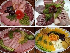 Delicious and simple recipes with photos Bento Recipes, Cooking Recipes, Entree Festive, Fruits Decoration, Tortilla Pinwheels, No Cook Appetizers, Food Carving, Good Food, Yummy Food