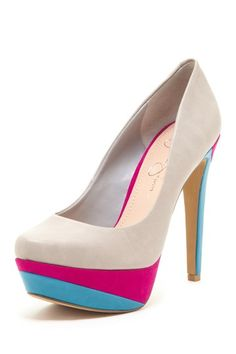 Jessica Simpson Beijo High Heel Pump by Our New Obsession.Pumps on Pretty Shoes, Beautiful Shoes, Cute Shoes, Me Too Shoes, High Heel Pumps, Pumps Heels, Platform Pumps, Stilettos, Multi Coloured High Heels