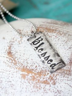 Blessed Rustic Tag - Jewelry - HorseFeathers Gifts - Hybrid Her Trunk Show