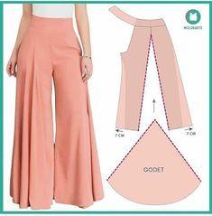 Fashion Sewing, Diy Fashion, Fashion Dresses, Sewing Pants, Sewing Clothes, Dress Sewing Patterns, Clothing Patterns, Pants Pattern, Diy Clothing