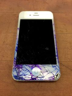 DIY Colored Cracked iPhone | Via All Things Natalie Christa