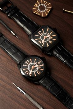 The Piccadilly and Berkeley Black Knights - make a dramatic statement. Swiss Luxury Watches, Signature Design, Automatic Watch, Knights, Chronograph, Steel, Diamond, Accessories, Collection