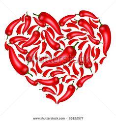 Chili Pepper Isolated On A White Background Foto d'archivio 100920568 : Shutterstock