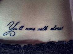YNWA tattoo Ynwa Tattoo, Champion Tattoo, Tattoo Trends, Tattoo Ideas, Tattoo Spots, Underboob Tattoo, Sacred Geometry Tattoo, Get A Tattoo, Small Tattoos