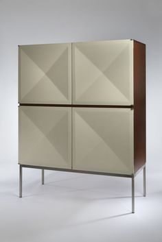 Cabinet with White Diamond Doors, 1962 c., by Antoine Philippon and Jacqueline Lecoq