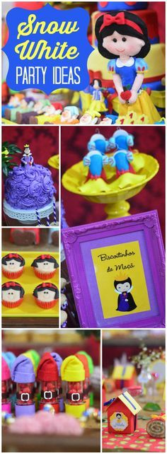 You have to see this incredible Snow White party! See more party ideas at a CatchMyParty.com!
