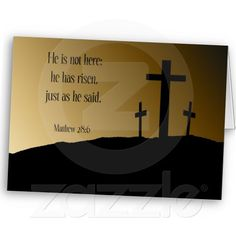 He is Risen Easter Card--Another reminder of why we celebrate this holiday. Perfect for sharing your faith!