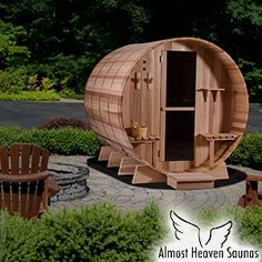 Is it wrong to really really want this Almost Heaven Saunas  Grandview Deluxe 6-person Barrel Wet Sauna