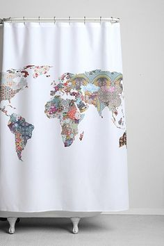 32621120_010_b  $89 patchwork map shower curtain for our guest bathroom!