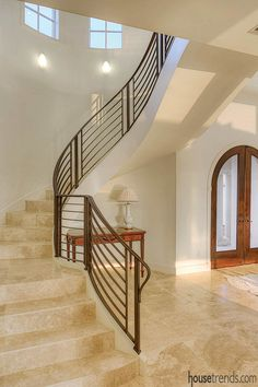 This breathtaking spiral staircasethe first thing greeting guests this breathtaking spiral staircasethe first thing greeting guests when entering the homeserved as a starting point for interior des m4hsunfo