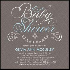 Baby Shower invitation from Tiny Prints