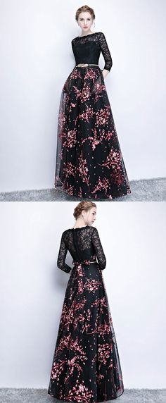 70 ideas dress hijab soiree black for 2019 Prom Dresses Long With Sleeves, Unique Prom Dresses, Prom Dresses 2017, Ball Gown Dresses, Modest Dresses, Trendy Dresses, Nice Dresses, Evening Dresses, Casual Dresses