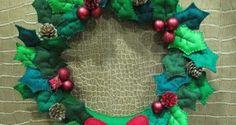 25 Ideias de Guirlandas de Natal em Feltro