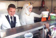 Newlyweds Skip Traditional Banquet to Feed Thousands of Refugees.Enlisting their friends to dole out dinner from food trucks, Turkish couple Fethullah Üzümcüoğlu and Esra Polat celebrated their new life together by dining with 4,000 Syrian refugees. They didn't just serve the guests—the couple used the money that would have been spent on a traditional banquet dinner to throw a party for a group.
