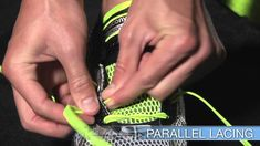 Lacing Techniques for Running Shoes  ABSOLUTELY AMAZING helpful videos! This company totally gained my trust. I will definitely keep this company in mind when buying and order from them! Watch all videos...they have tons and tons of way to customize your search until you find YOUR right shoe (ex: Pronation--who knew?)