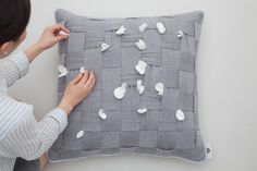 HUHU cushion by cool enough studio.  www.coolenoughstudio.com Cushions, Studio, Cool Stuff, Design, Throw Pillows, Toss Pillows, Pillows, Scatter Cushions, Study