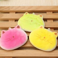 Squishy Fat Cat Biscuit Cookie Kitten Face Random Color 7cm Phone Bag Strap Decor Pendant Gift