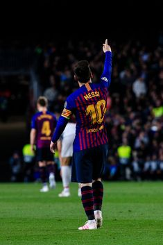 10 Leo Messi of FC Barcelona celebrating his goal during the UEFA Champions League first leg match of Semi final between FC Barcelona and Liverpool FC in Camp Nou Stadium in Barcelona 01 of May of Spain. (Photo by Xavier Bonilla/NurPhoto via Getty Images) Messi 10, Messi And Ronaldo, Cristiano Ronaldo, Messi Pictures, Messi Photos, Messi Champions League, Lionel Messi Wallpapers, Lionel Messi Barcelona, Soccer Motivation