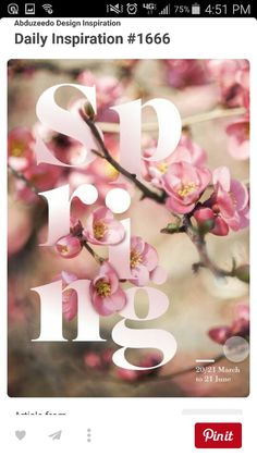 Creative Typographic, Seasons, Posters, and Poster image ideas & inspiration on Designspiration Spring Is Here, Hello Spring, Spring Time, Happy Spring, Spring 2015, Spring Summer, Web Design, Print Design, Typographic Poster