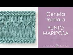 Aprende a Tejer un Adorable Cubrepañal de Punto con Tirantes PETIT. Un Patrón muy Sencillo de Tejer pero que Enamorará a Primera Vista Baby Knitting Patterns, Knitting Stitches, Butterfly Stitches, Knit Crochet, Crochet Hats, Different Stitches, Purl Stitch, Learn How To Knit, Stockinette