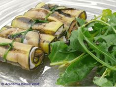 Eggplants rolled with Cheese & Parma Ham
