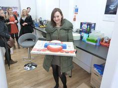 Rachel from CBS  , lovely cake-