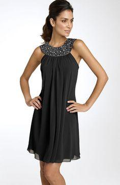 Js Boutique Beaded Chiffon Trapeze Dress in Gray (spiced gunmetal) - Lyst Beaded Chiffon, Chiffon Dress, Dress Skirt, Dress Up, Casual Dresses, Short Dresses, Fashion Dresses, Cute Bridesmaid Dresses, Prom Dresses